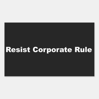 Widerstehen Sie Unternehmensregel-Lech-Aufkleber Rechteckiger Aufkleber