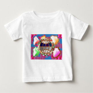 Widmung zur Mutter Erde - Kinder kennen besseres Baby T-shirt