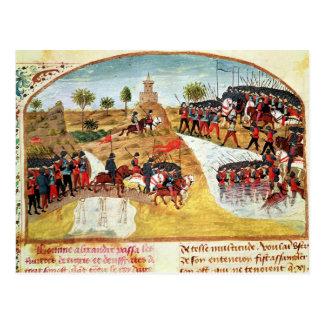 Wie Alexander der Große den Tigris kreuzte Postkarte