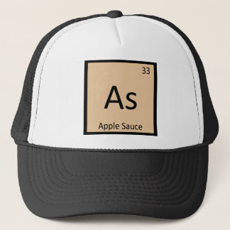 Wie - Apfelsauce-Chemie-Periodensystem-Symbol Truckerkappe
