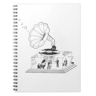Wie arbeitet ein Grammophon wirklich? Notizblock