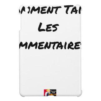 WIE die KOMMENTARE VERSCHWEIGEN - Wortspiele iPad Mini Hülle