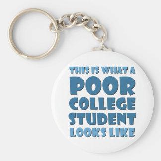 Wie dieses ist, ein welcher armer Unistudent aussi Standard Runder Schlüsselanhänger
