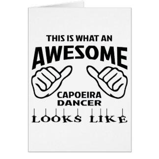 Wie dieses ist, ein welcher fantastischer Capoeira Karte