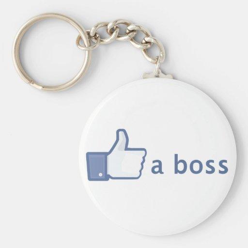 Wie ein Chef keychain Schlüsselband