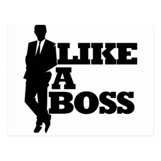 Wie ein Chef Postkarte