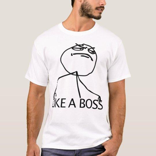Wie ein Chef-Raserei-Comic Meme T-Shirt