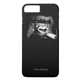 Wie ein Chef-rauchender Gorilla-individueller Name iPhone 8 Plus/7 Plus Hülle
