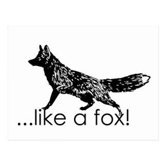 … wie ein Fuchs! Postkarte