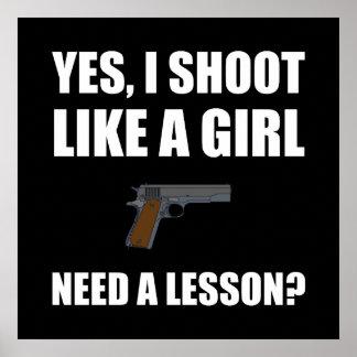 Wie ein Mädchen-Gewehr-Trieb Poster