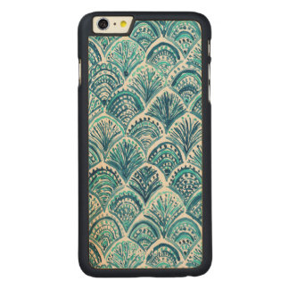 WIE ein MEERJUNGFRAU Seefisch-Skala-Muster Carved® Maple iPhone 6 Plus Hülle