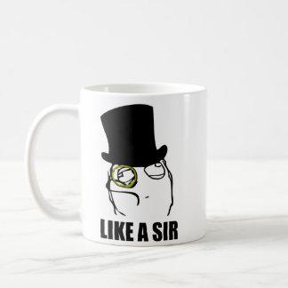 Wie ein Sir Monocle Rage Face Meme Tee Haferl