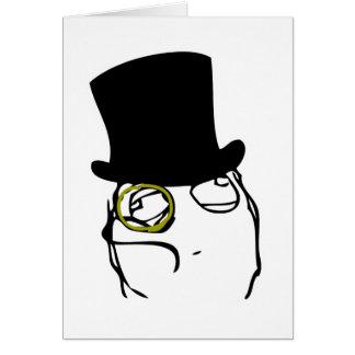Wie ein Sir Rage Face Meme Grußkarte
