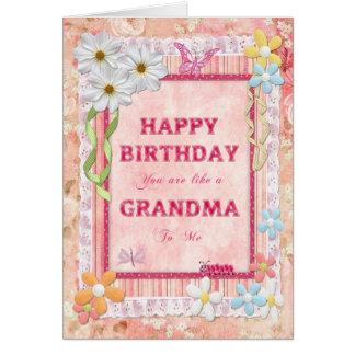 Wie eine Großmutter zu mir, Karte