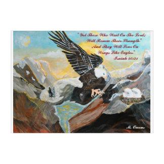 """Wie Flügel auf Eagle"" 14"" steigen x 10"" an Acryl Wandkunst"