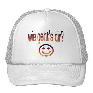 Wie Geht´s Dir? Deutsche Flaggen-Farben Truckerkappe