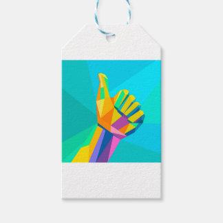 Wie geometrische Art des Handzeichens Geschenkanhänger