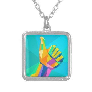 Wie geometrische Art des Handzeichens Versilberte Kette