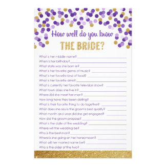 Wie gut kennen Sie die Braut? Spiel Briefpapier