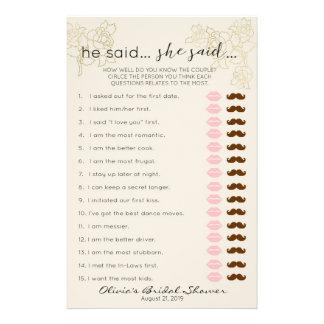 Wie gut Sie das Braut-Spiel kennen, Brautparty Flyer