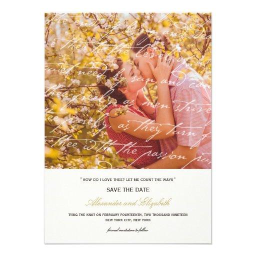 Wie i-Liebe Thee Gedicht-Foto-Save the Date Karte  Einladungskarten
