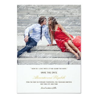 Wie i-Liebe Thee Gedicht-Foto-Save the Date Karte 11,4 X 15,9 Cm Einladungskarte