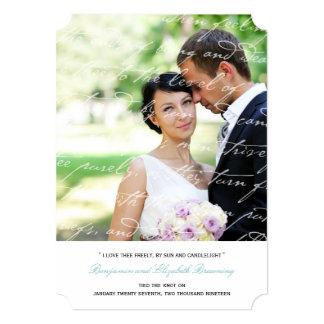 Wie i-Liebe Thee Gedicht-Hochzeits-Foto-Mitteilung 12,7 X 17,8 Cm Einladungskarte