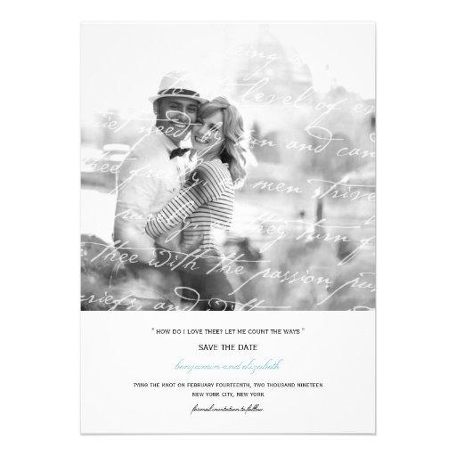 Wie i-Liebe Thee Gedicht-Save the Date Foto-Karte  Einladungen