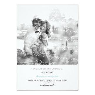 Wie i-Liebe Thee Gedicht-Save the Date Foto-Karte 12,7 X 17,8 Cm Einladungskarte