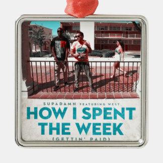 Wie ich die Abdeckung der Wochen-(Getting gezahlt) Silbernes Ornament