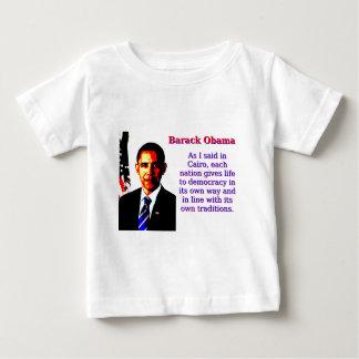 Wie ich in Kairo - Barack Obama sagte Baby T-shirt