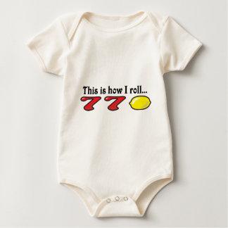 Wie ich rolle baby strampler