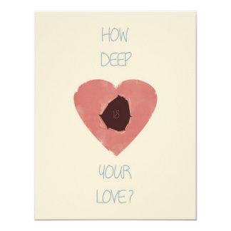 wie Ihre Liebe tief ist 10,8 X 14 Cm Einladungskarte
