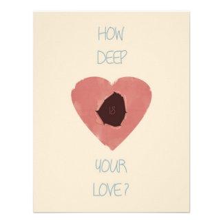 wie Ihre Liebe tief ist Personalisierte Ankündigung