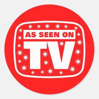 Wie im Fernsehen gesehen - CH 2 mit Schnee spielt Runder Aufkleber