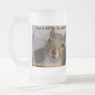 Wie ist Politik wie Eichhörnchen? ,… Matte Glastasse