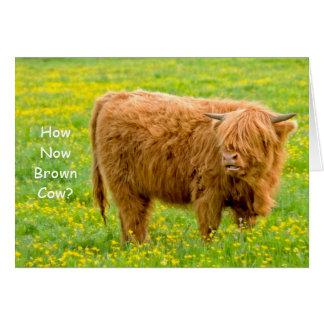 Wie jetzt Brown-Kuh? Geburtstags-Karte Grußkarte