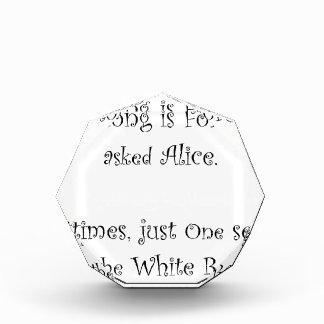 Wie lang für immer Alice ist Acryl Auszeichnung