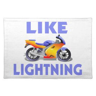 Wie Lightining Straßen-Fahrrad Stofftischset