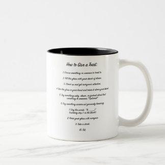 """""""Wie man"""" anweisende Tasse röstet"""