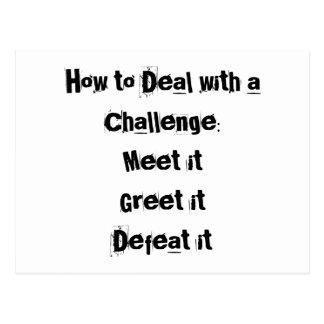 Wie man eine motivierend Herausforderung beschäfti Postkarten