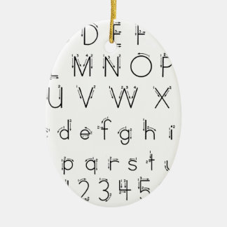 Wie man Ihre Briefe - Alphabethandschrift bildet Keramik Ornament