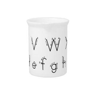 Wie man Ihre Briefe - Alphabethandschrift bildet Krug