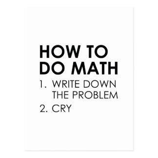 Wie man Mathe tut Postkarte