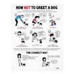 """Wie man nicht einen Hund - 8,5"""" x 11"""" Flyer grüßt"""