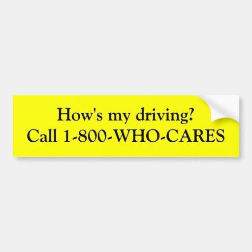 Wie mein fährt? auto aufkleber