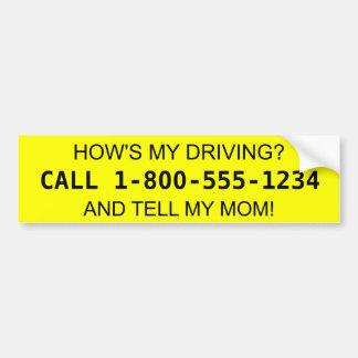 Wie mein fährt? Erklären Sie meiner Mamma! Autoaufkleber