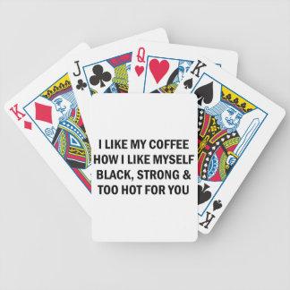 Wie mein Kaffee Bicycle Spielkarten