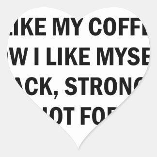Wie mein Kaffee Herz-Aufkleber