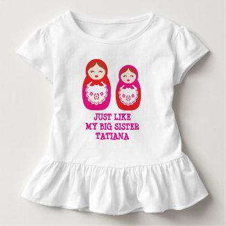 Wie meine große Schwester genistet Kleinkind T-shirt